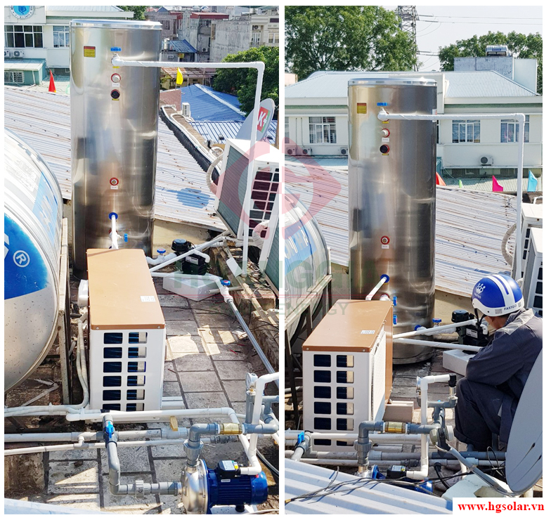 Hệ thống nước nóng trung tâm Heatpump cho Bệnh viện trẻ em Hải Phòng