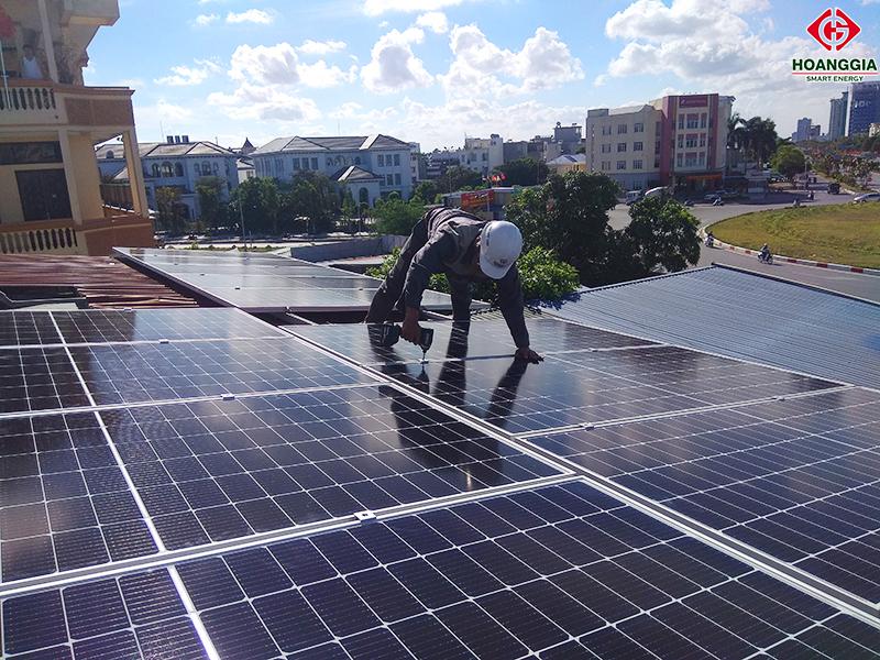 Lắp đặt điện mặt trời hòa lưới 5kw trên mái tôn tại Phường Thành Tô, TP. Hải Phòng